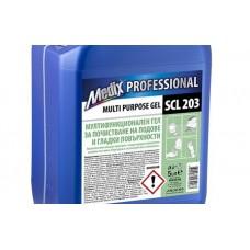 Мултифункционален гел за почистване за подове и гладки повърхности Medix Professional, SCL 203, 5 l