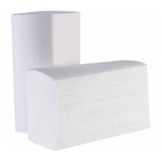 Сгънати кърпи за ръце Economy V-образни, целулоза, двупластови 21x18 cm 200 бр. Бели