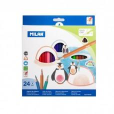 Цветни моливи MILAN 231, 24 цвята