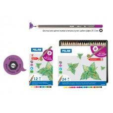 Цветни моливи MILAN 213, 12 цвята в метална кутия
