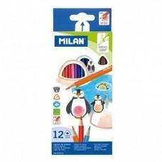 Цветни моливи MILAN 231, 12 цвята