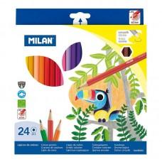 Цветни моливи MILAN 211, 24 цвята