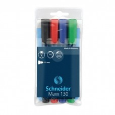 Комплект перманентни маркери SCHNEIDER MAXX 130 4 цвята