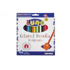 Цветни моливи LUNA, 24 цвята