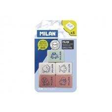 Гума хлебна MILAN 445 с картинка 5 броя на блистер