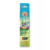 Цветни моливи KOH-I-NOOR, 6 цвята