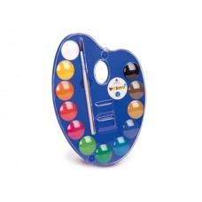 Бои акварелни PRIMO, 12 цвята в палитра