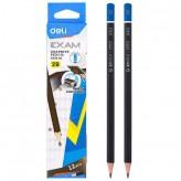 Молив без гума DELI Exam 2B черно тяло