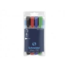 Комплект маркер за бяла дъска SCHNEIDER 290 4 цвята