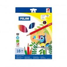 Цветни моливи MILAN 211, 18 цвята