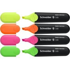Комплект текстмаркери SCHNEIDER JOB 4 цвята
