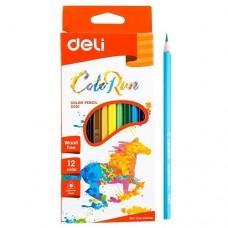 Цветни моливи Deli Colorun  PP, 12 цвята