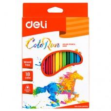 Цветни моливи Deli Colorun  PP, 18 цвята