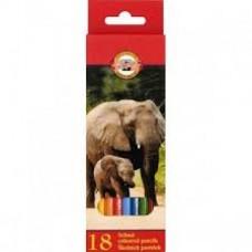 Цветни моливи KOH-I-NOOR, 18 цвята