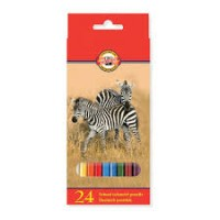 Цветни моливи KOH-I-NOOR, 24 цвята