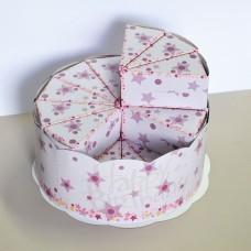 Картонена торта за детска градина 24 парчета