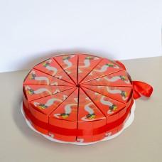 Картонена торта за детска градина 12 парчета