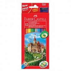 Цветни моливи Faber-Castell  шестоъгълни, 12 цвята