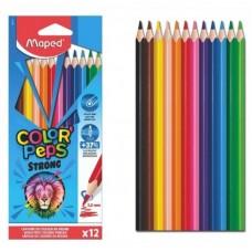 Цветни моливи MAPED COLOR PEPS STRONG 12 цвята