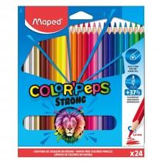 Цветни моливи MAPED COLOR PEPS STRONG 24 цвята