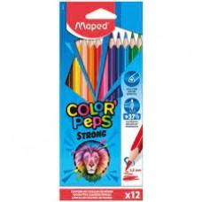 Цветни моливи MAPED COLOR PEPS STRONG JUMBO 12 цвята