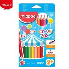 Цветни моливи MAPED JUMBO EARLY AGE 12 цвята