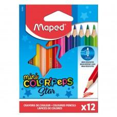 Къси цветни моливи MAPED COLOR PEPS 12 цвята