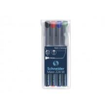 Комплект перманентни маркери OHP SCHNEIDER М 4 цвята