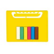 Комплект дъска с ножче и пластелин ЕСТРЕЛА, 6 цвята