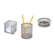 Комплект от три части мрежа сив