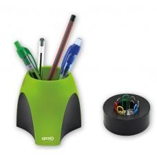 Моливник и кламеродържач Eye Combi зелен