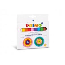 Пластелин PRIMO, 10 цвята, 180 гр.