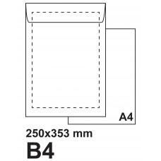 Плик самозалепващ B4 250х353 бял
