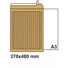 Плик с въздушни мехурчета 370х480 кафяв №10